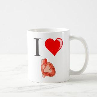 私は私のハートを愛します コーヒーマグカップ
