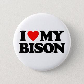 私は私のバイソンを愛します 5.7CM 丸型バッジ