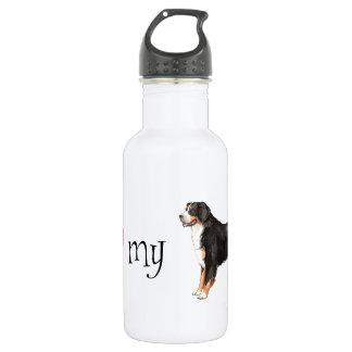 私は私のバーニーズ・マウンテン・ドッグを愛します ウォーターボトル