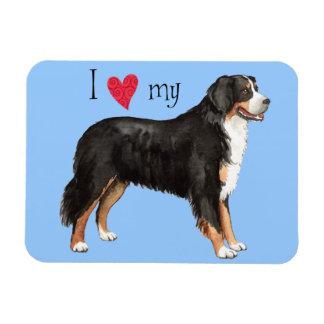 私は私のバーニーズ・マウンテン・ドッグを愛します マグネット