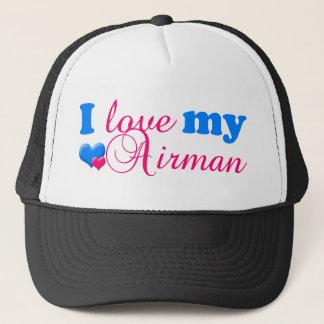 私は私のパイロットの帽子を愛します キャップ