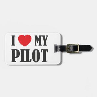 私は私のパイロットを愛します ラゲッジタグ