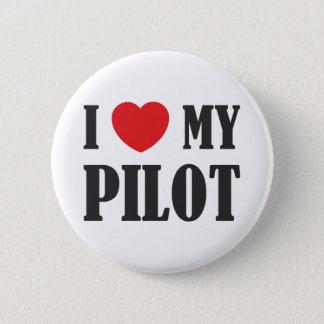 私は私のパイロットを愛します 5.7CM 丸型バッジ