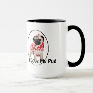私は私のパグのマグを愛します マグカップ