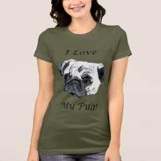 私は私のパグを愛します! Tシャツ