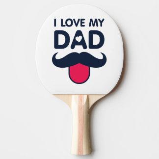 私は私のパパのかわいい髭アイコンを愛します 卓球ラケット