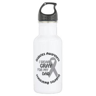 私は私のパパサポート糖尿病Awarのための灰色を身に着けています ウォーターボトル