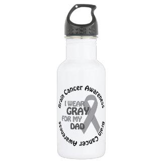私は私のパパサポート脳腫瘍のための灰色を身に着けています ウォーターボトル