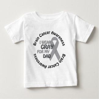 私は私のパパサポート脳腫瘍のための灰色を身に着けています ベビーTシャツ