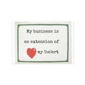 私は私のビジネスを愛します キャンバスプリント