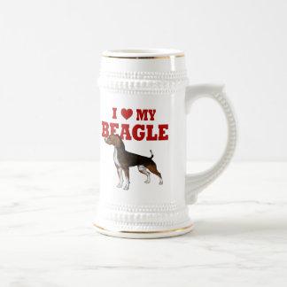 私は私のビーグル犬を愛します ビールジョッキ