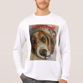 私は私のビーグル犬を愛します! Tシャツ