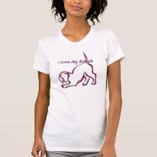 私は私のビーグル犬を愛します Tシャツ
