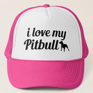 私は私のピットブルの帽子を愛します キャップ