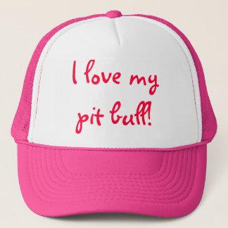 私は私のピット・ブルを愛します! キャップ