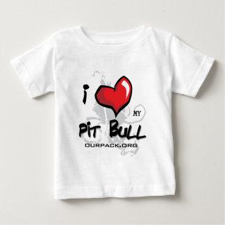 私は私のピット・ブル愛します! ベビーTシャツ