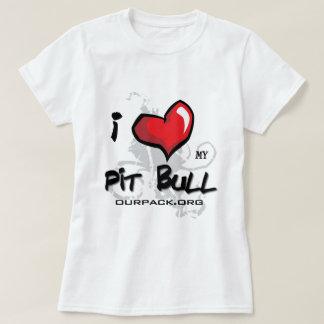 私は私のピット・ブル愛します! Tシャツ
