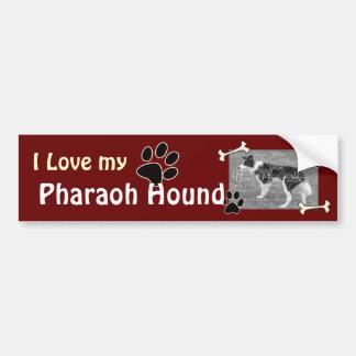私は私のファラオの猟犬のバンパーステッカーを愛します バンパーステッカー