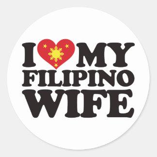 私は私のフィリピンの妻を愛します ラウンドシール