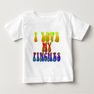 私は私のフィンチを愛します ベビーTシャツ