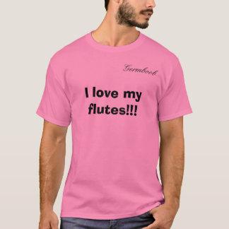私は私のフルートを!愛します!! 、Germboob Tシャツ