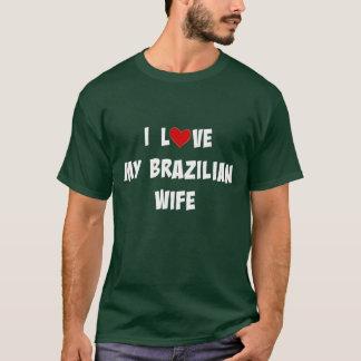 私は私のブラジルの妻を愛します Tシャツ