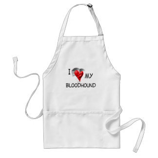 私は私のブラッドハウンドを愛します スタンダードエプロン