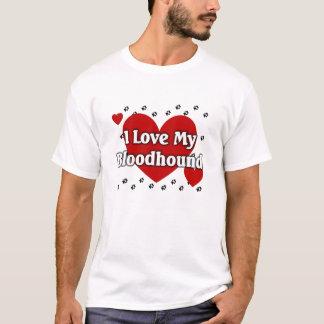 私は私のブラッドハウンドを愛します Tシャツ