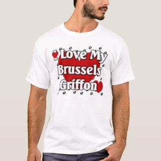 私は私のブリュッセルGriffonを愛します Tシャツ