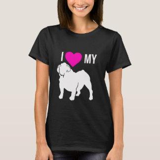私は私のブルドッグのTシャツを愛します Tシャツ