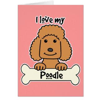 私は私のプードルを愛します カード