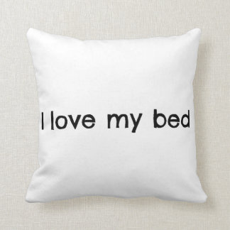 私は私のベッド枕を愛します クッション