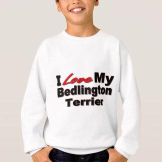 私は私のベドリントン・テリア犬の商品を愛します スウェットシャツ
