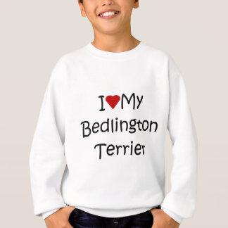 私は私のベドリントン・テリア犬の恋人のギフトを愛します スウェットシャツ