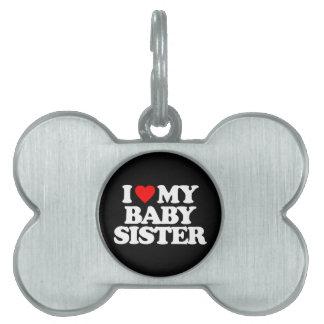 私は私のベビーの姉妹を愛します ペットネームタグ