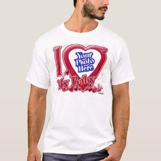 私は私のベビーの赤いハート-写真--を愛します Tシャツ