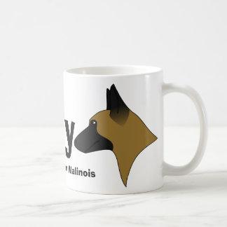私は私のベルギーのMalinoisを愛します コーヒーマグカップ