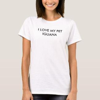 """""""私は私のペットイグアナ""""の女性のBASICのTシャツ愛します Tシャツ"""