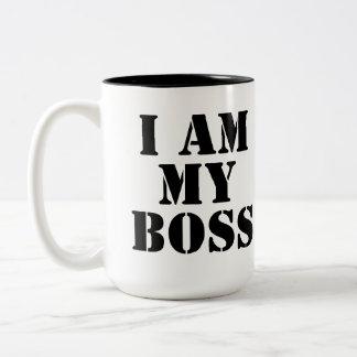 私は私のボスです。 スローガン ツートーンマグカップ