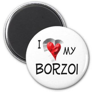 私は私のボルゾイを愛します マグネット