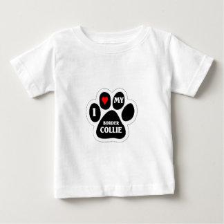 私は私のボーダーコリーを愛します ベビーTシャツ