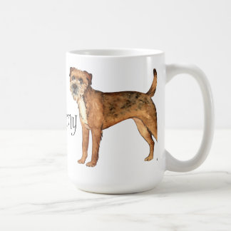 私は私のボーダーテリアを愛します コーヒーマグカップ