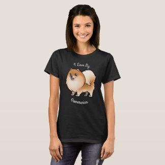 私は私のポメラニア犬を愛します Tシャツ