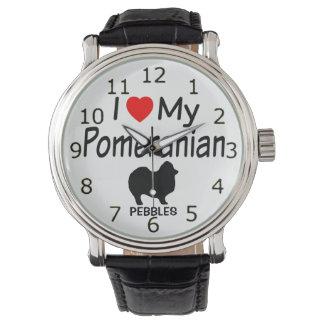 私は私のポメラニア犬犬の腕時計を愛します 腕時計
