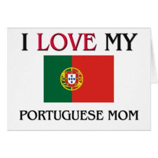 私は私のポルトガルのお母さんを愛します カード
