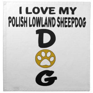 私は私のポーランドの低地の牧羊犬犬のデザインを愛します ナプキンクロス