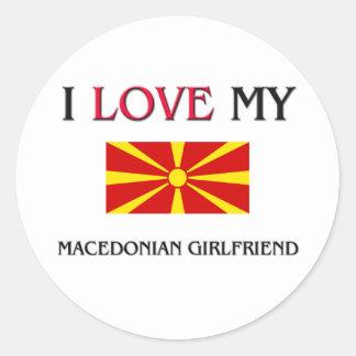 私は私のマケドニアのガールフレンドを愛します ラウンドシール