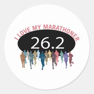 私は私のマラソン選手を愛します ラウンドシール