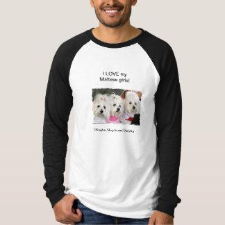 私は私のマルタの女の子を愛します Tシャツ