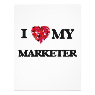 私は私のマーケティング担当者を愛します 21.6CM X 27.9CM チラシ